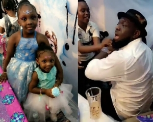 Photos: Timaya Throws Lavish Frozen-Themed Birthday Party for His Daughter